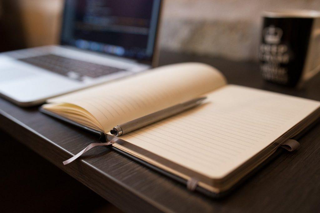 book, pen, open